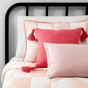 Hearth & Hand Accents - NWT Hearth & Hand Coral Square Throw Pillow Tassel